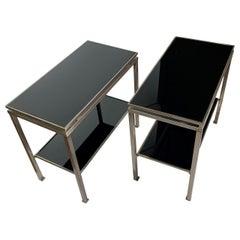 Pair of Bedside Tables by Guy Lefevre For Jansen