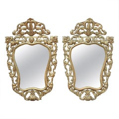 Pair of Louis XV Style Gilt Mirrors