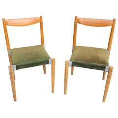 Pairi of Czech Dinning Chairs, Designed by M. Navratil, 1970s
