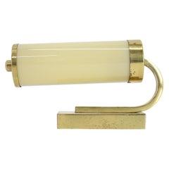 Pair of Beautiful Art Deco/Bauhaus Brass Wall Lamps / Scones, 1930s