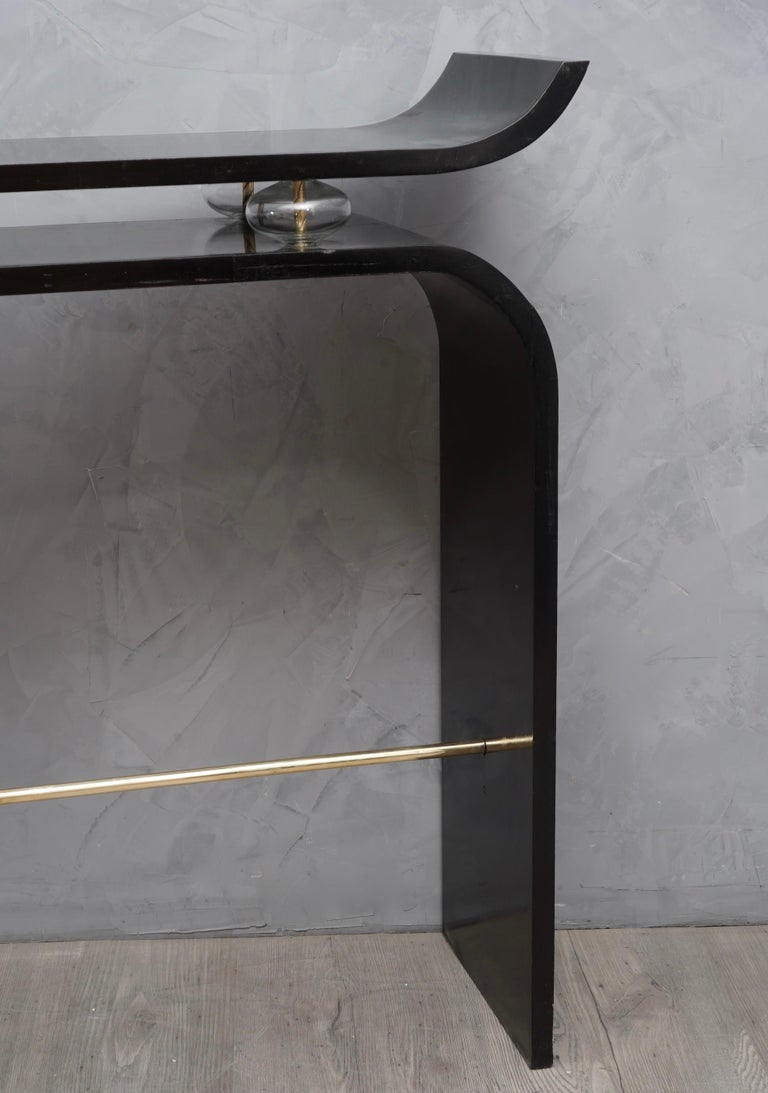 Art Deco Glass and Brass Console Tables, 1920 For Sale 2