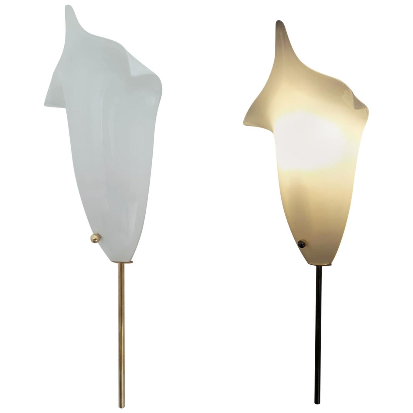 Pair of Tulip Sconces by Barovier e Toso - 3 pairs available