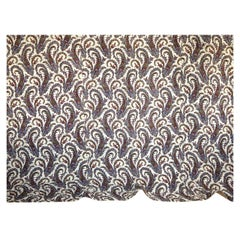 Paisley Block Printed Cotton Quilt French 19th Century