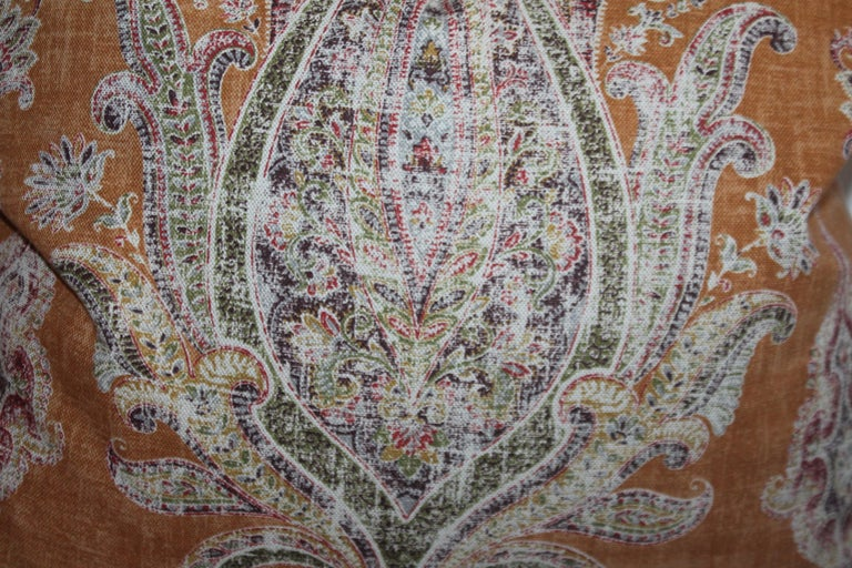 Adirondack Paisley Cotton Linen Printed Pillows, Pair