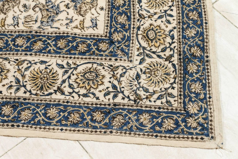 Paisley Kalamkari Textile from India In Good Condition For Sale In North Hollywood, CA