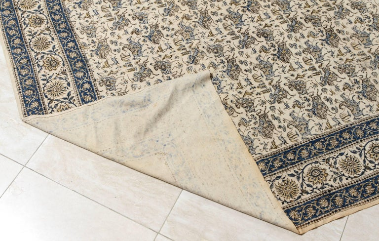 20th Century Paisley Kalamkari Textile from India For Sale