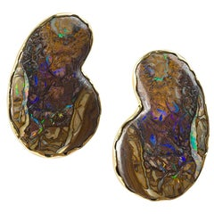 Paisley Opal Earrings by Andrew Grima