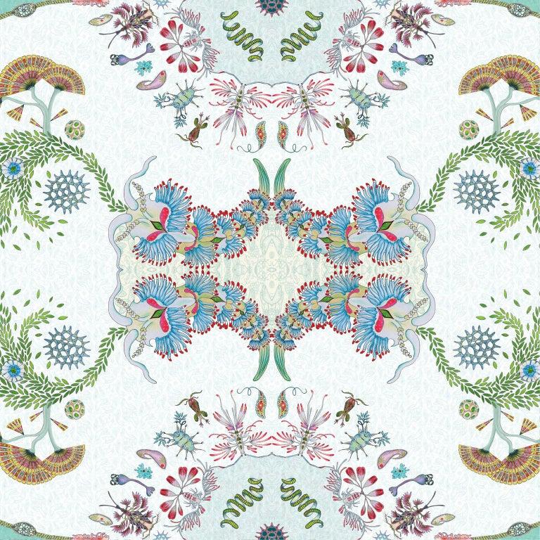 Other Paisley Paramecium Wallpaper in Aqua For Sale