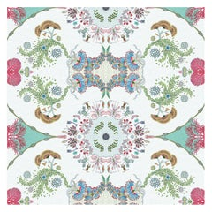 Paisley Paramecium Wallpaper in Aqua