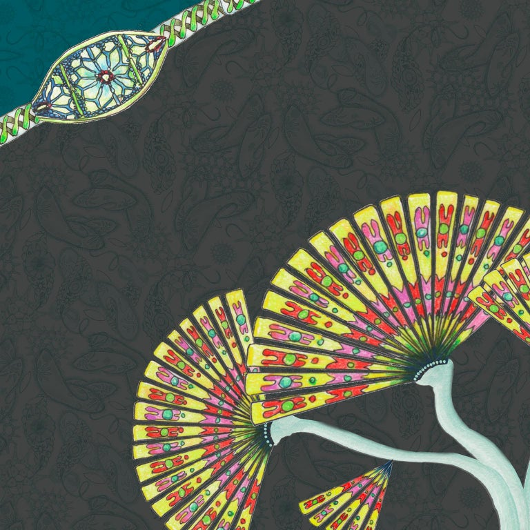 Other Paisley Paramecium Wallpaper in Haeckel For Sale