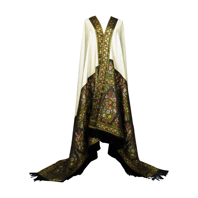 Paisley Shawl in Silk Woven on Jacquard Loom - Russia (?) Circa 1820/1850