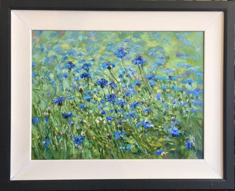 Tennessee Blue - Abstract Impressionist Painting by Pakan Penn