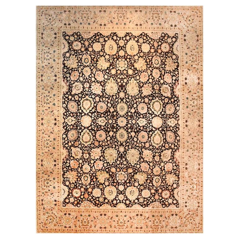 Pakestan Rug Tabriz Design Hand Knotted For Sale At 1stdibs