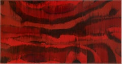 Heartbeat I - 21st Century, Red, Abstract Painting, Contemporary, Encaustic