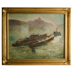 Pal Fried 'Hungarian, 1893-1976' Towboat