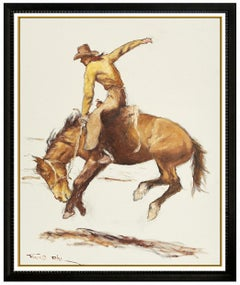 Pal Fried Original Oil Painting On Canvas Signed Large Western Horse Cowboy Art