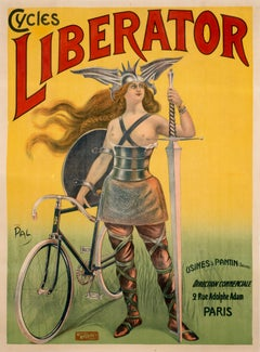 """Cycles Liberator"" Original Vintage Bicycle Poster 1900"