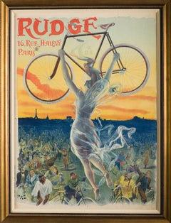 """""""Rudge Cycles"""" authentic antique posters with tax stamps"""