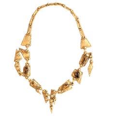 Pal Kepenyes Brutalist Bronze Necklace