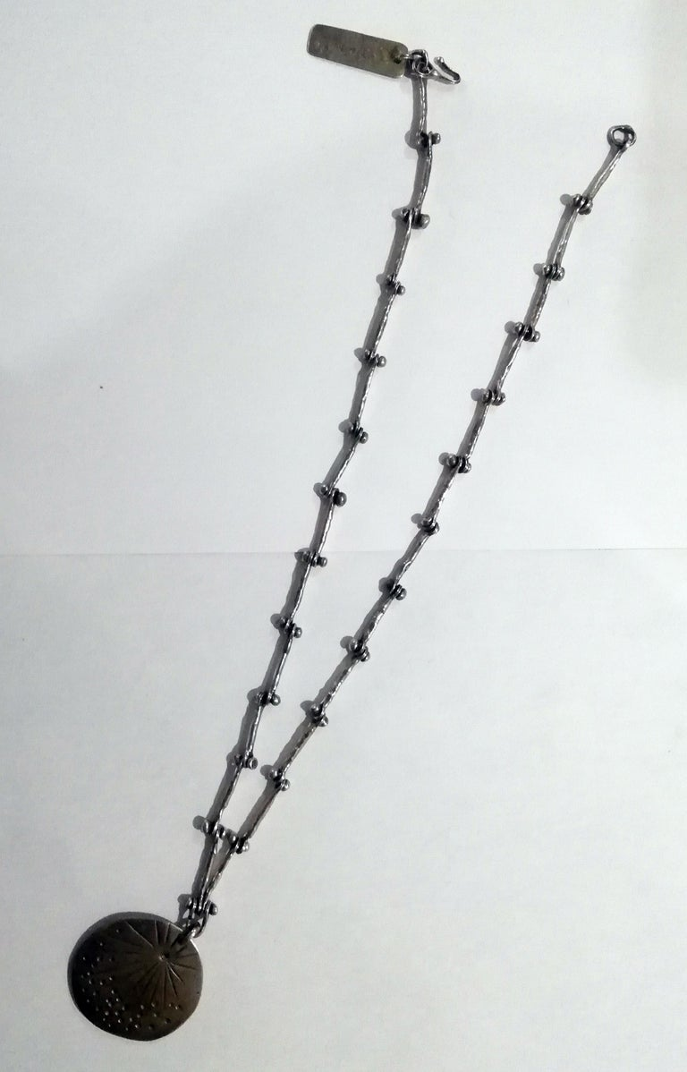Pal Kepenyes Brutalist Silver and Bronze Necklace For Sale 1