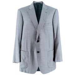 Pal Zileri Men's Silk & Wool Houndstooth Blazer - Size M EU 46