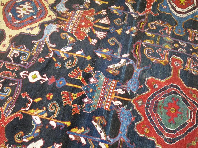 20th Century Palace Size Antique Senneh Bakhtiari Rug For Sale