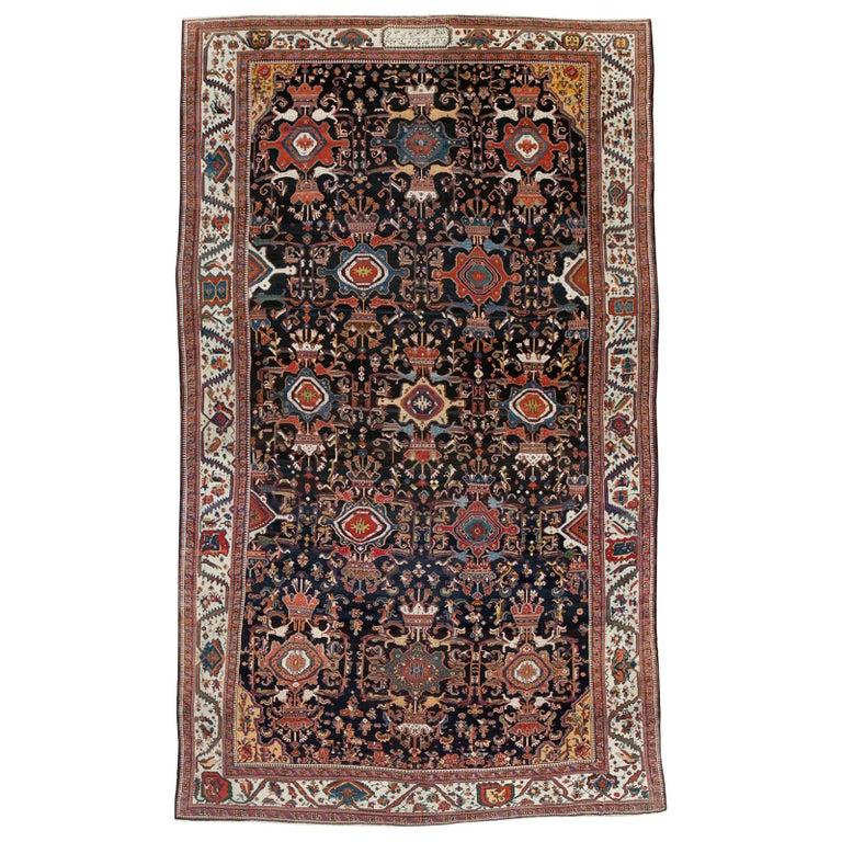 Palace Size Antique Senneh Bakhtiari Rug For Sale