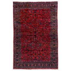 Palace Sized Antique Persian Red Lilian Carpet, circa 1920s
