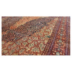 Palace-Sized Antique Sarouk-Farahan Carpet with Incredible Detail & Intricacy