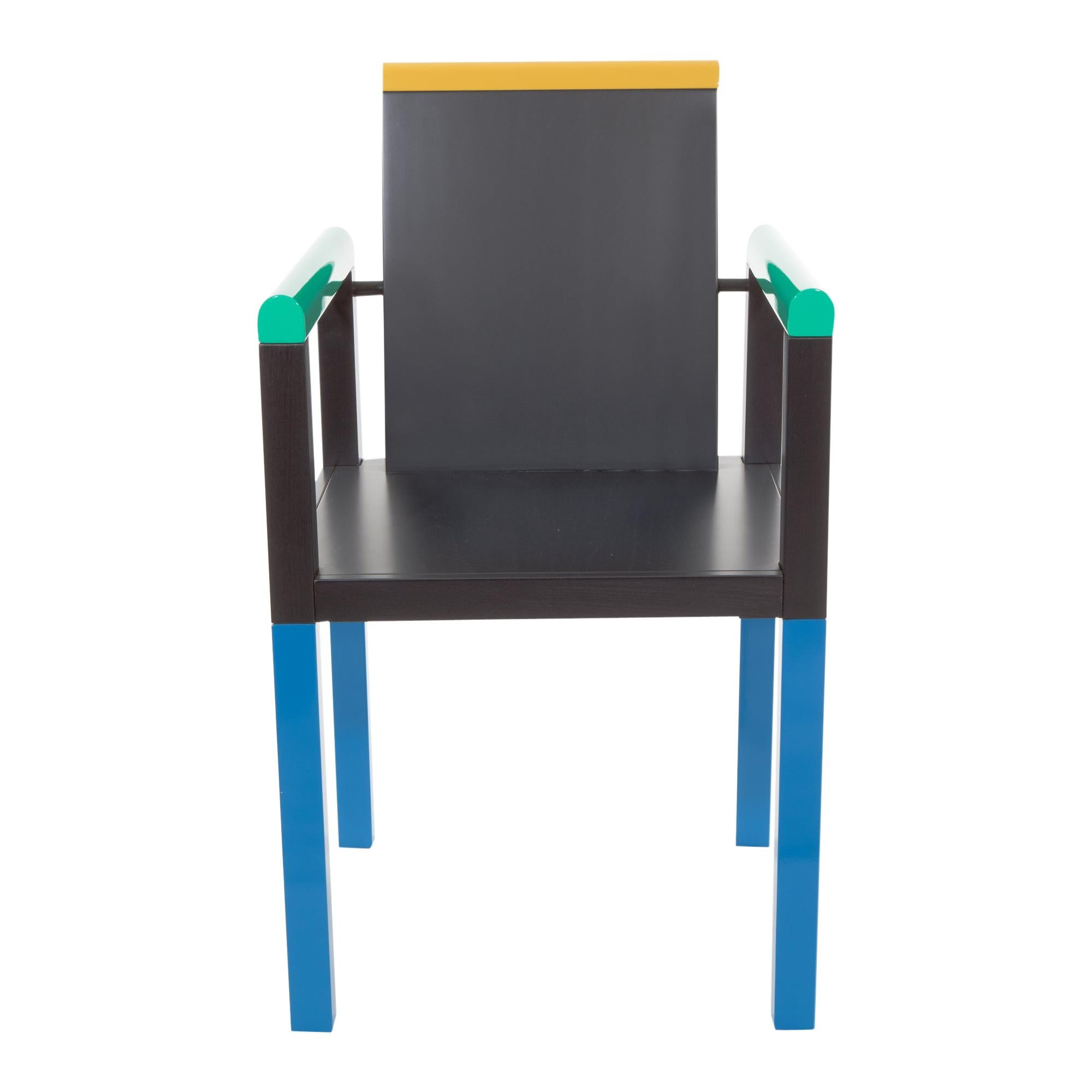 Palace Wood Chair, by George Sowden from Memphis Milano