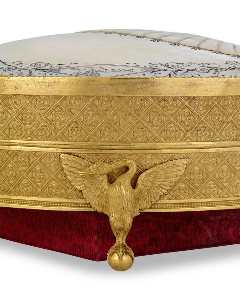 French Palais Royal Mother-of-Pearl Box