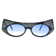 PALAIS ROYAL PARIS Camouflage Mother of Pearl Effect Blue Gradient Sunglasses