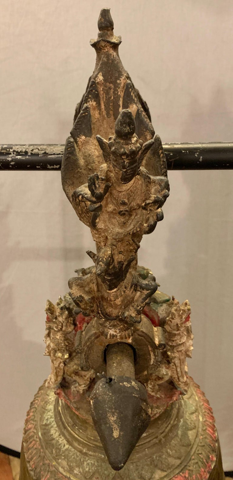 Anglo-Japanese Palatial 19th Century Bronze Bell on Stand W. Gong For Sale