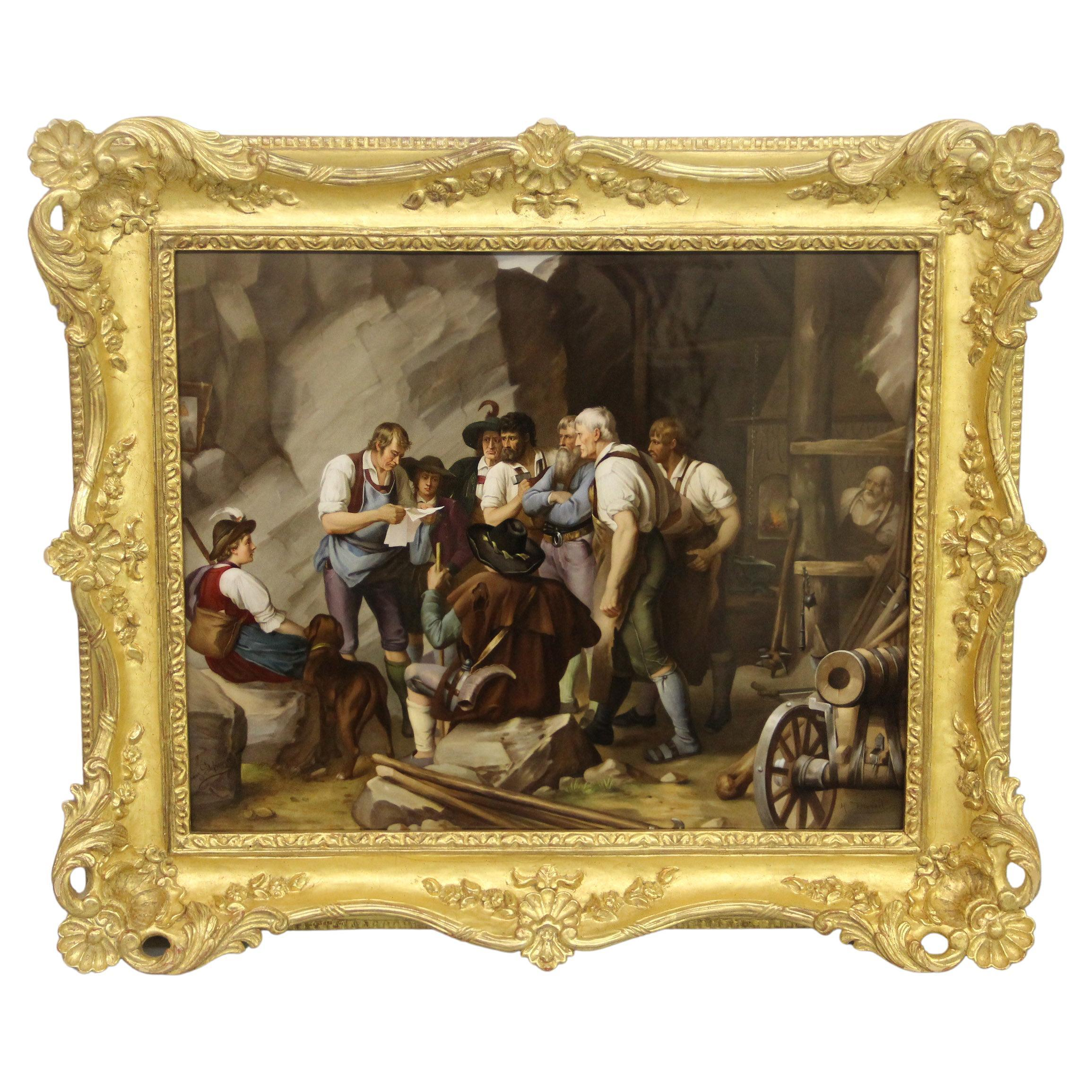 Palatial and Very Impressive Late 19th Century Berlin K.P.M. Porcelain Plaque