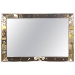 Palatial Art Deco Bubble Form Console or over the Mantel Mirror