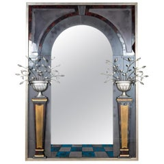 Palatial Contemporary Architectural Mirror