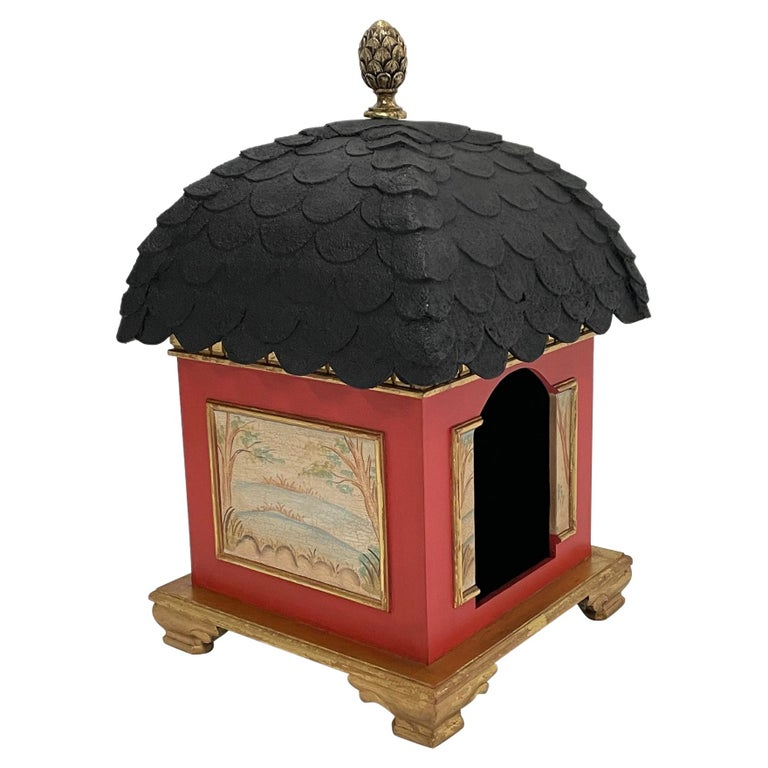 Palatial Hollywood Regency Doghouse for Lucky Pet For Sale