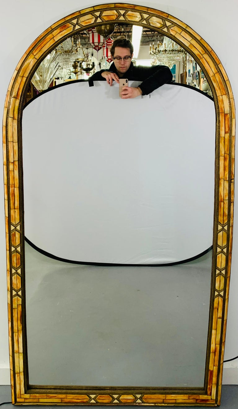 Palatial Moroccan Hollywood Regency Style Wall Console or Pier Mirror, a Pair  In Good Condition For Sale In Plainview, NY