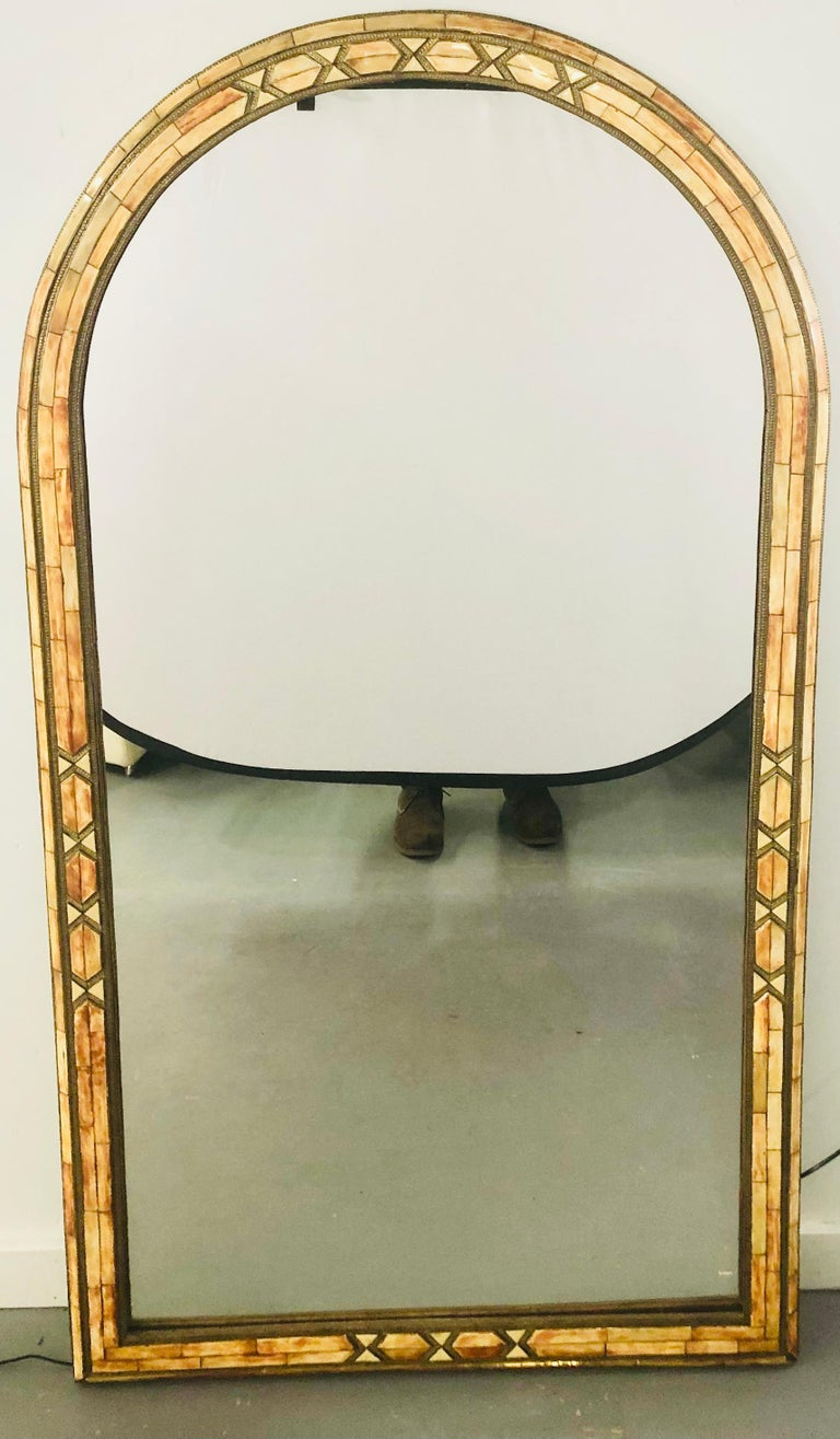 Palatial Moroccan Hollywood Regency Style Wall Console or Pier Mirror, a Pair  For Sale 4