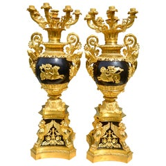 Palatial Pair of French Empire Style Candelabra after Thomire