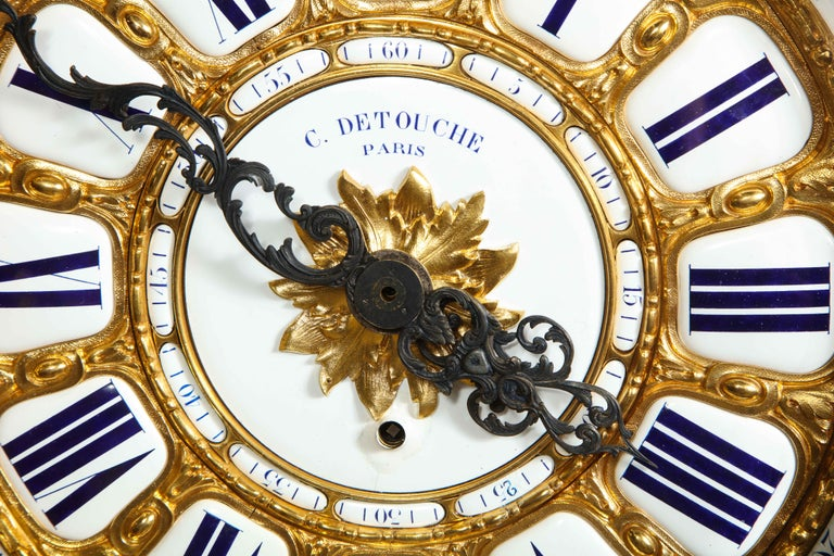 Palatial & Rare Napoleon III French Ormolu and Patinated Bronze Clock, Detouche For Sale 10