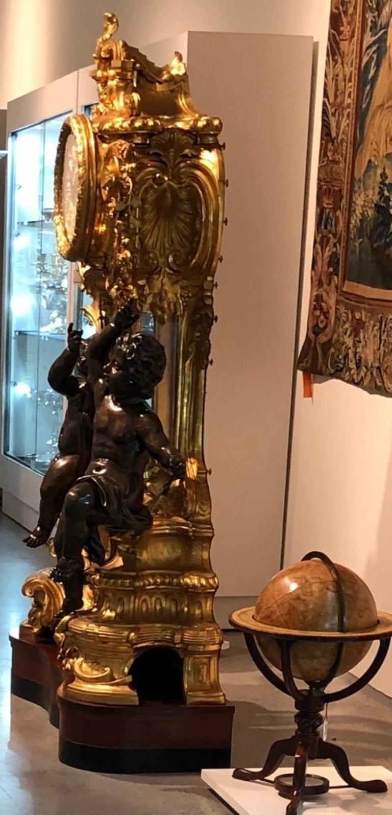 Palatial & Rare Napoleon III French Ormolu and Patinated Bronze Clock, Detouche For Sale 12