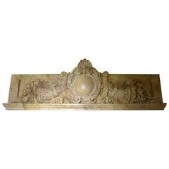 Palatial Sienna Marble Over Door Ornament