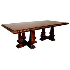 Palatial Very Large French Provincial Mahogany Dining Table