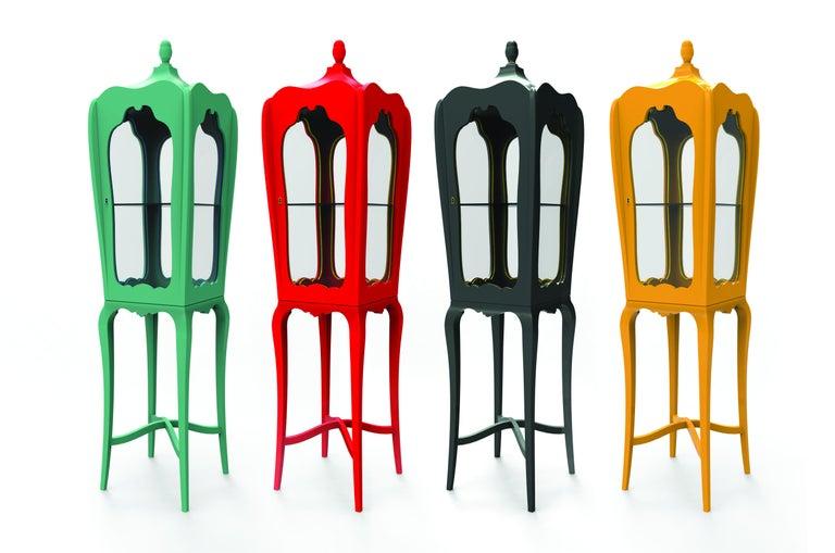 Portuguese Palatino Display Case Slim  For Sale