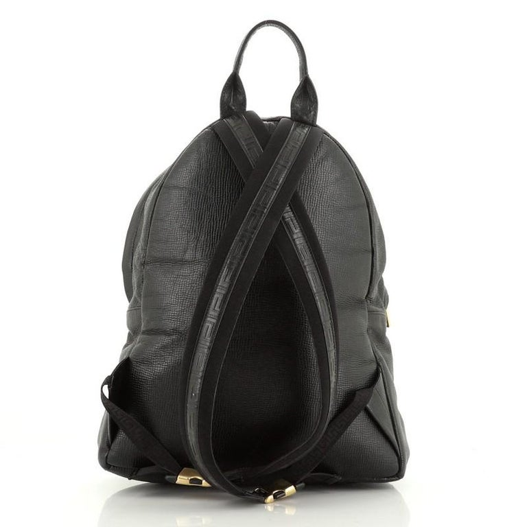 Palazzo Medusa Backpack Leather Large In Good Condition In New York, NY