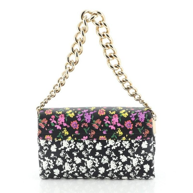 Palazzo Medusa Flap Bag Printed Leather Small In Good Condition In New York, NY