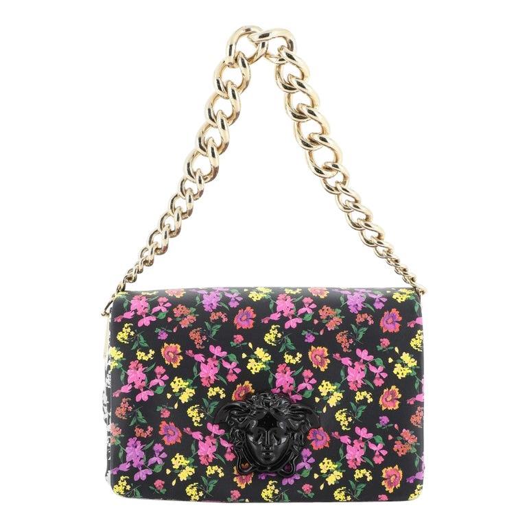 Palazzo Medusa Flap Bag Printed Leather Small