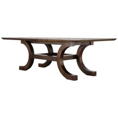 Palazzo Walnut Dining Table by Orlando Diaz-Azcuy for McGuire