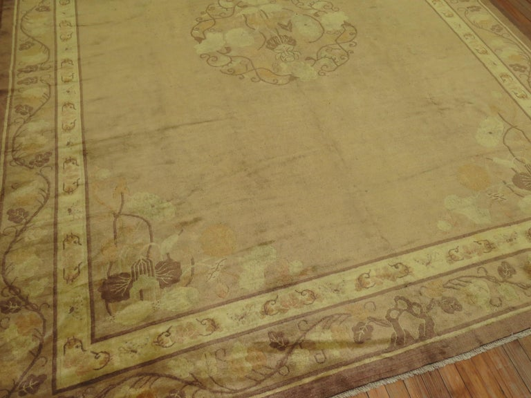 Pale Antique Chinese Rug For Sale 3